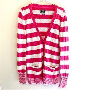 Victoria's Secret PINK stripe cardigan sweater